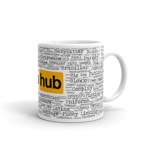"The Pornhub ""Choose Your Flavor"" Mug - Pornhub Apparel"