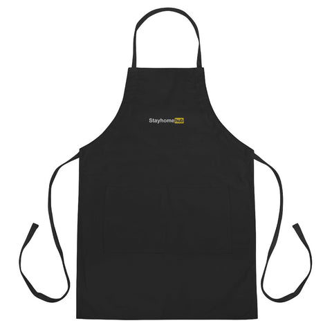 Stayhomehub Embroidered Apron - Pornhub Apparel