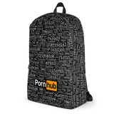Pornhub Categories Black Backpack - Pornhub Apparel