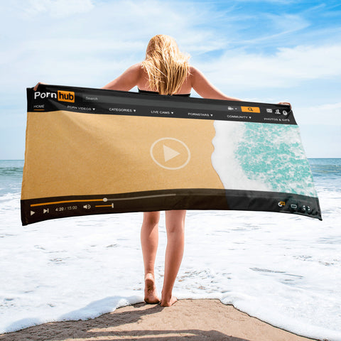 Pornhub Player Beach Scene Towel - Pornhub Apparel