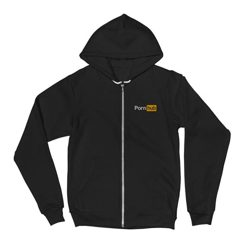 Pornhub Embroidered Zipper Hoodie - Pornhub Apparel