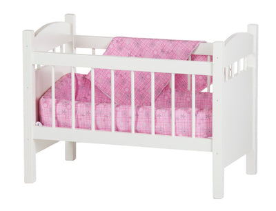 DELUXE DOLL CRIB with BEDDING - Amish Handmade Furniture for Dolls USA