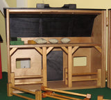 TOY BARN - Complete with Barnyard of Farm Animals & Fence - Amish Handmade in USA