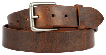 DISTRESSED LEATHER BELT - Soft & Supple with Roller Buckle