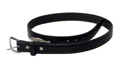 AMISH HAND STITCHED BELT Black Leather 1¼ inch - Handmade in USA