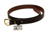 SINGLE STITCH BELT - Black & Brown Leather 1¼ inch - USA