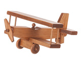 "12½"" AIRPLANE - Bi Plane with Pilot & Working Propeller and Wheels"