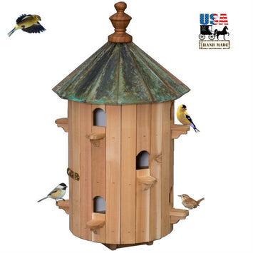 10 ROOM PATINA COPPER TOP BIRDHOUSE - 26