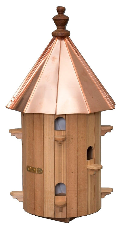"10 ROOM CEDAR BIRDHOUSE- Large 30½"" Copper Roof Bird House"