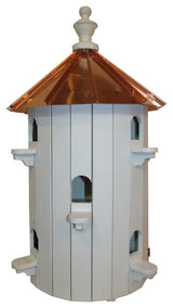 "10 ROOM BIRDHOUSE CONDO - 26"" Copper Roof Bird House"