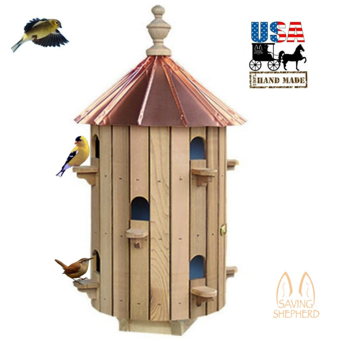 10 ROOM CEDAR BIRDHOUSE - 26