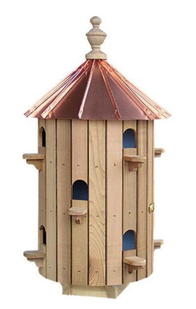 "10 ROOM CEDAR BIRDHOUSE - 26"" Copper Roof Bird House Condo"
