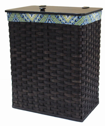 CLOTHES HAMPER - Amish Hand Woven Laundry Basket with Birch Wood Lid