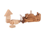 BULLDOZER WOOD TOY - Amish Handmade Construction Truck USA