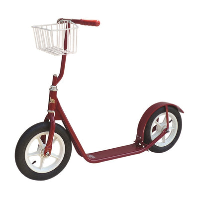 "12"" CHILDREN'S SCOOTER Genuine Amish with Basket & Brake 7 Bright Colors"