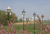 "18"" HANGING WREN BIRDHOUSE - Copper Steeple Roof & Trim Bird House"