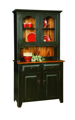 Amish Handmade Custom China Cabinet Hutch Made in America