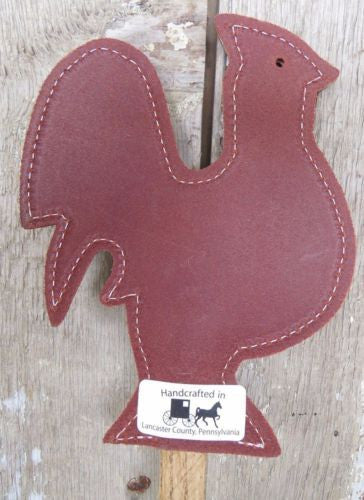 Leather Rooster Fly Swatter Amish Handmade Country Chicken