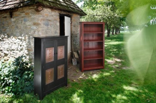 BOOKCASE CABINET w DOORS Primitive Country Lancaster PA ...