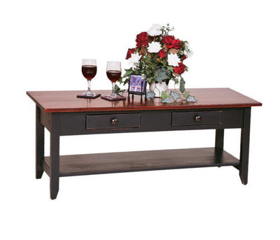 Amish Handmade Coffee Table Hairloom Furniture Made in USA