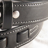 EQUESTRIAN LEATHER BELT Amish Handmade with Silver Horse Hoof Pick Hardware