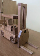 FORKLIFT WOOD TOY Working Wooden Construction Truck USA HANDMADE
