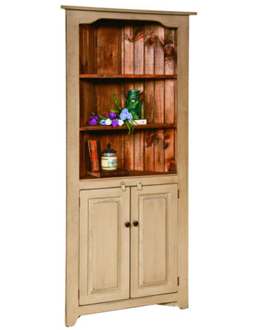 Custom Croner China cabinet Hutch Amish Handmade Heirloom Furniture Made in USA