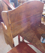 Amish Handmade Deacon Bench Reclaimed Wood Made in USA