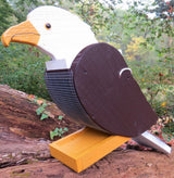 EAGLE BIRD FEEDER - Solid Wood American Bald Eagle