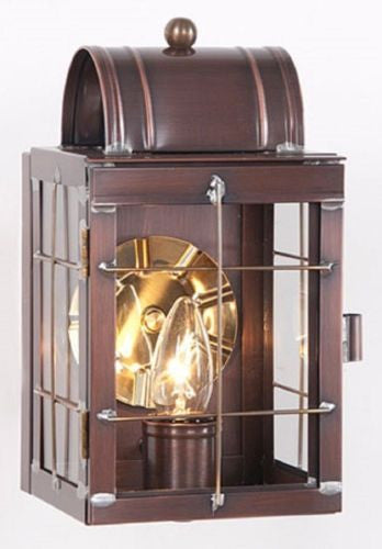 WALL LANTERN LIGHT Antique Copper Handcrafted Outdoor Colonial Sconce