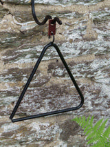Wrought Iron DINNER BELL Triangle Handforged Made in USA