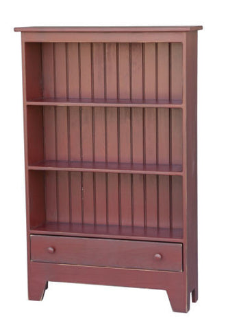 Amish Handmade Customer Bookshelf with Drawer Made in USA