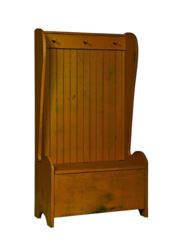 Bucket Chest Stroage Bench Coat Rack Amish Handmade Heirloom Furniture