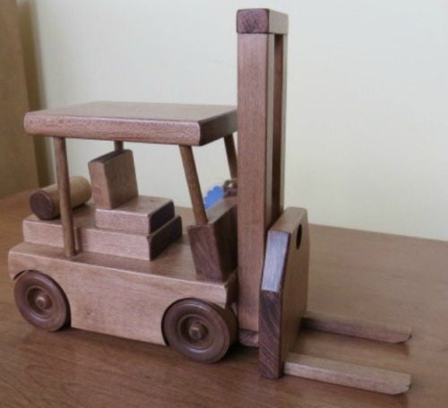 Fork Lift Wood Toy Truck Amish Handmade Wooden Toys For