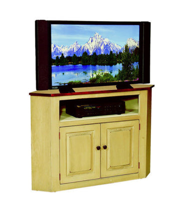 Amish Handmade Corner Entertainment TV Center Made in America