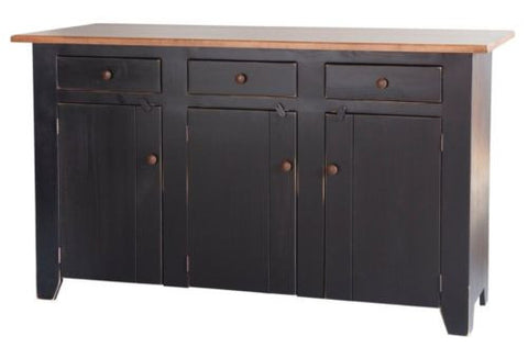 Amish Handmade Kitchen Island Bar Storage Heirloom Furniture Made in USA