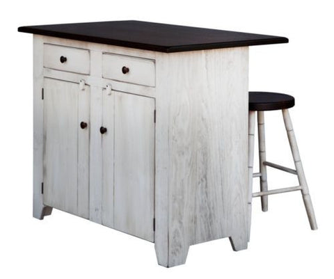 Amish Handmade Bar Kitchen Island Storage Made in USA