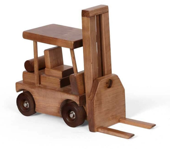 FORK LIFT WOOD TOY TRUCK Amish Handmade Wooden Toys for Play & Display