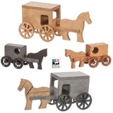 AMISH HORSE & BUGGY - Handmade Wood Toy USA