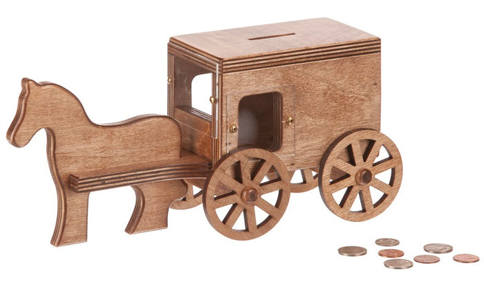 AMISH HORSE & BUGGY BANK - See What You Save Piggy Banks