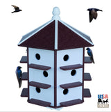 "18 Hole 32"" PURPLE MARTIN HOUSE - Weatherproof Recycled Poly in 4 Colors"