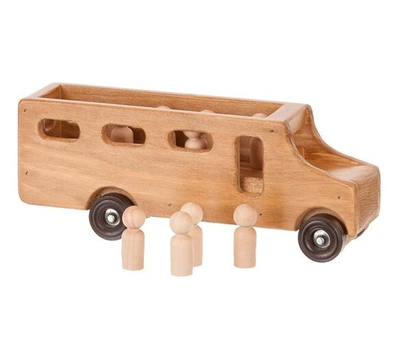 SCHOOL BUS with STUDENTS - Handmade Wood Toy USA MADE