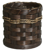 UTENSIL HOLDER - Hand Woven Natural Reed Basket Kitchen Caddy
