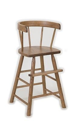 BOOSTER HIGH CHAIR Amish Handmade Heirloom Quality Oak Furniture