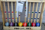 "CROQUET SET & CADDY 8 Player 24"" Maple Wood & Brass Amish Handmade"