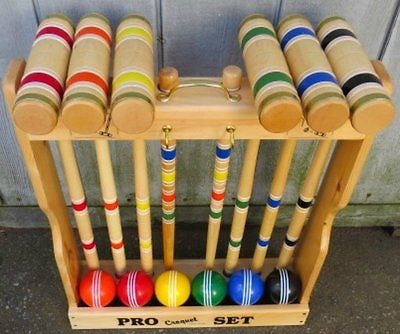 CROQUET SET & CADDY 6 Player 32