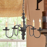 WOODSPUN CHANDELIER 5 Candelabra Primitive Country Ceiling Light in 4 Finishes