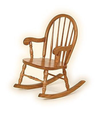 CHILDREN'S BOW BACK ROCKING CHAIR Amish Handmade Classic Oak Rocker