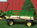 HUGE WAGON 4 Feet Beach Garden Cart in 4 Colors & Choice of Wood or Poly Bed