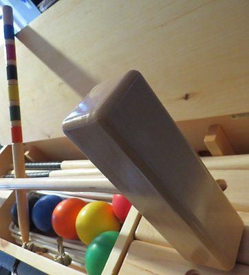 CROQUET SET ♦ OFFICIAL ♦ 6 Player Maple Hardwood w/ CARRYING CASE Amish Handmade